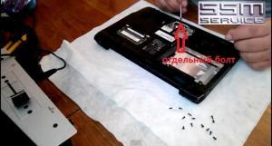 Как разобрать ноутбук Acer Aspire One серии A0751h-52Bb