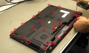 Как разобрать ноутбук Acer Aspire V3-771G