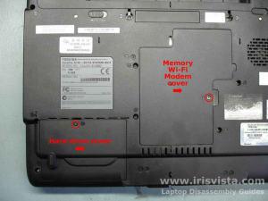 Как разобрать ноутбук Toshiba Satellite A105