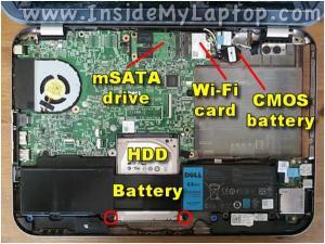 Разбираем ноутбук Dell Inspiron 14z-5423