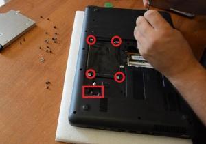 Разборка ноутбук HP 630