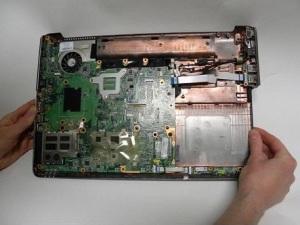 Разборка ноутбука HP Pavilion dv6 модель 1245dx.