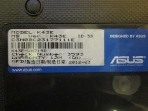 Разборка ноутбука ASUS K43E.
