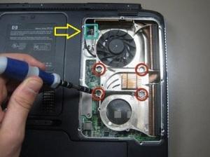 Как разобрать ноутбук HP Pavillon ZD7000?