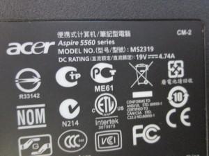 Разбираем ноутбук Acer Aspire 5560G.