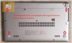 Разборка ноутбука Lenovo IdeaPad S415.